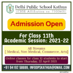 Admission Open for Class XI